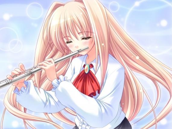 Les mangas et la musique - Dessin de flute ...